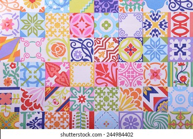 geometric abstract colored background