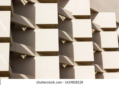 geometric architecture shapes and lines  abstract background photography of some building wall and windows exterior facade
