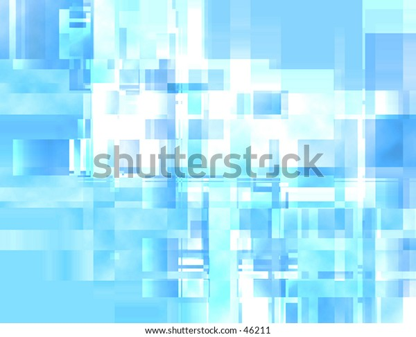Geometric blue abstract