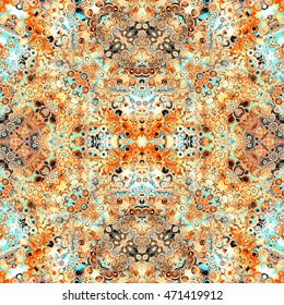 Geometric Cells Intricate Pattern