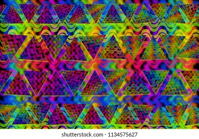 geometric color tranparency fabric pattern