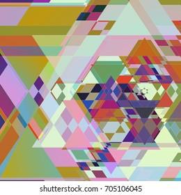 Geometric Colorful Triangle Shape Layers