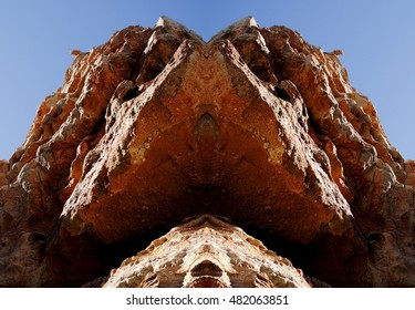 geometric composition of lava mountains, geometric composition of Las Canadas del Teide, Los Roques of García,Teide volcano,are located in an elevated position overlooking the Plain of Ucanca,
