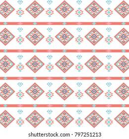 Geometric ethnic inspired pattern.
