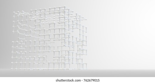 Geometric figure 3d image. Abstract shapes on background. 3d rendering.