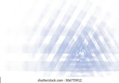 Geometric fractal background grey on white