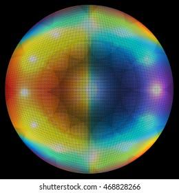 Geometric Glowing Circle
