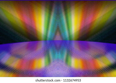 Geometric hexagonal abstract pattern composition