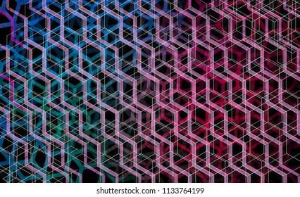 geometric hexagonal composition