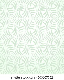 Geometric leaf pattern. Seamless  background. Abstract ornament.