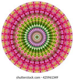 Geometric Mandala.Mandala created from fractals, Flower of Life.