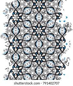 Geometric optical illusion vibration design.Pentagon black and white colors seamless pattern. Trendy contempirary fashion style.