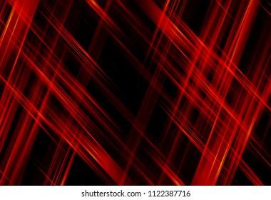 Geometric orange intersecting lines. Illustration technology.