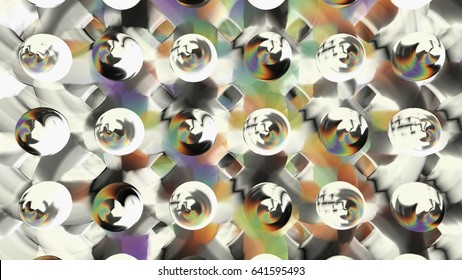 geometric Overlapping circle of life structure oil paint abstract design with hard colors and abstract feel