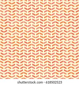 Geometric pattern with red and pink arrows. Seamless abstract background