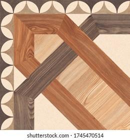 Geometric Patterned Tile Design for Parking and Floor, Wood Tiles Deor