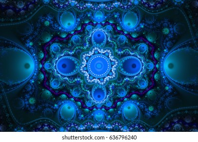 Geometric patterns can illustrate daydreaming imagination psychedelic space dreams and magic universe. Beautiful fractal render shapes inspired by nature
