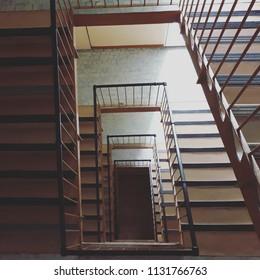 Geometric staircase detail