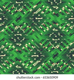 Geometric wallpaper with a figured pattern