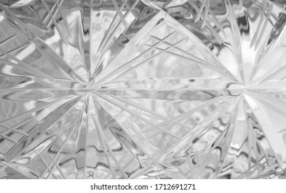 Geometrical pattern on glass. Photography with unusual effect.