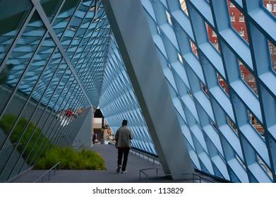 Geometrical Walkway - Seattle Public Library