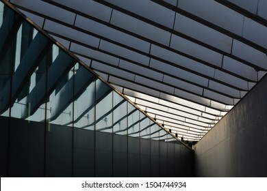 Geometry of architecture.  Lines and shadows. Colour