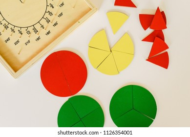 Geometry and mathematics materials in a Montessori classroom