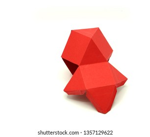 Geometry net of Cuboctahedron. 2 dimensional shape foldable to form a 3d shape or a solid. Unfolded 3D Figures.