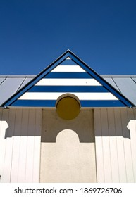 geometry in the roof of a beachhouse