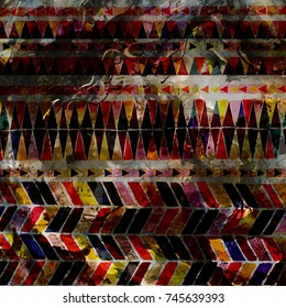 Geometry Watercolor texture pattern modern
