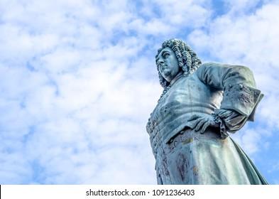 Georg Friedrich Handel Statue in Halle Saale, downtown, market square