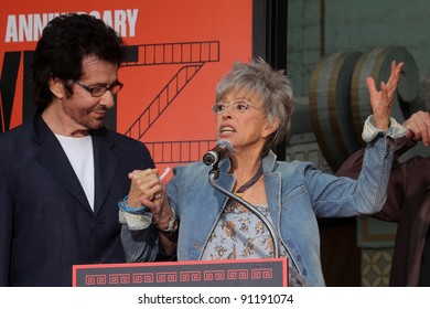 """George Chakiris, Rita Moreno at the """"West Side Story"""" Cast Hand and Footprint Ceremony, Chinese Theater, Hollywood, CA 11-15-11"""