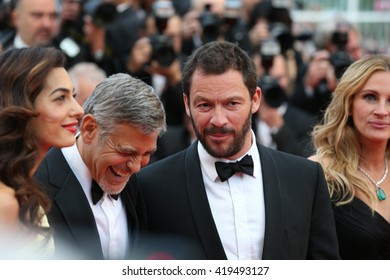 """George Clooney, Amal Clooney at the Money Monster Premiere for """"Money Monster"""" at the 69th Festival de Cannes.May 12, 2016  Cannes, France"""