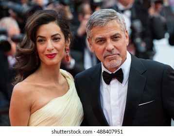 George Clooney, Amal Clooney  at the Money Monster Premiere at the 69th Festival de Cannes. May 12, 2016  Cannes, France