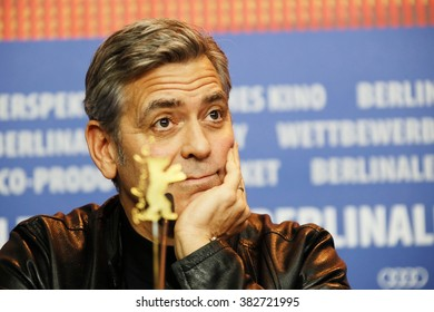 George Clooney attends the 'Hail, Caesar!' press conference during the 66th Berlinale International Film Festival Berlin at Grand Hyatt Hotel on February 11, 2016 in Berlin, Germany.