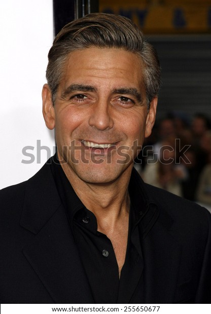 """George Clooney attends the Los Angeles Premiere of """"Ocean's Thirteen"""" held at the Grauman's Chinese Theatre in Hollywood, California, on June 5, 2006."""