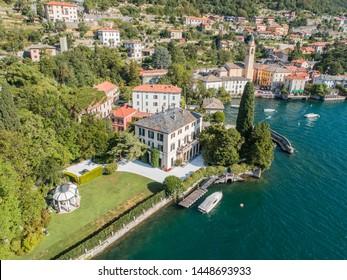 George Clooney house, Villa Oleandra, village of Laglio on Como lake in Italy