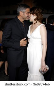 """George Clooney and Vera Farmiga at the Los Angeles Premiere of """"Up In The Air"""" held at the Man Village Theater in Westwood, USA on November 30, 2009."""