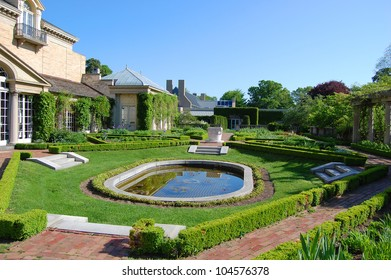 George Eastman House Garden in Rochester, New York State, USA