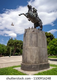 George Karaiskakis' statue in Athens