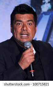 George Lopez at the KISS & Motley Crue Press Conference, Roosevelt Hotel, Hollywood, CA 03-20-12