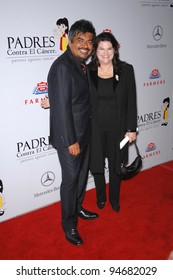 George Lopez & wife at a fund-raising gala to benefit Padres Contra El Cncer (parents against cancer) at The Lot, Hollywood. October 19, 2007  Los Angeles, CA Picture: Paul Smith / Featureflash