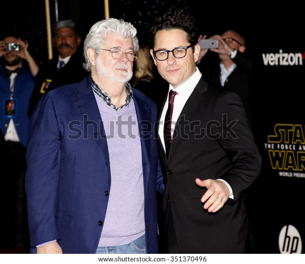 George Lucas and J.J. Abrams at the World premiere of 'Star Wars: The Force Awakens' held at the TCL Chinese Theatre in Hollywood, USA on December 14, 2015.