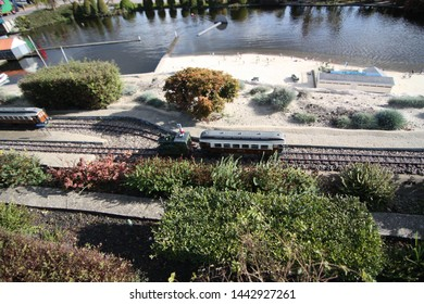 George Maduroplein, The Hague, The Netherlands, October 17, 2009. Madurodam Rail is loved by many visitors. All twelve different types of trains are hand-made and replicas of Dutch trains.