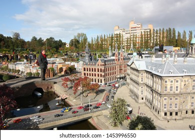George Maduroplein, The Hague, The Netherlands, October 17, 2009. Visiting Madurodam amusement park which has more than 5,500 miniature trees and 55,000 flower bed plants blooming all season.
