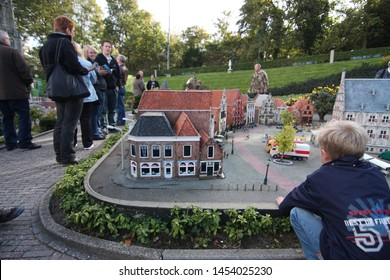 George Maduroplein, The Hague, The Netherlands, October 17, 2009. People are visiting Madurodam Miniature City in Den Haag where they can see all the replicas of The Netherlands buildings.