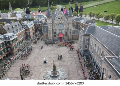 George Maduroplein, The Hague, The Netherlands, October 17, 2009. Replica of Binnenhof Den Haag in Madurodam where the most important events in the nation's history of The Netherlands took place.