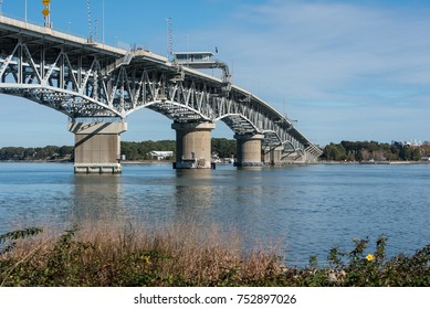 The George P. Coleman Memorial Bridge  is a double swing bridge that spans the York River between Yorktown and Gloucester Point, in the United States state of Virginia.