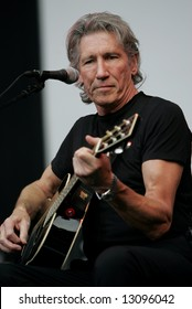 George Roger Waters, the Pink Floyd guitarist and singer, performs in Moscow on June 24, 2006.