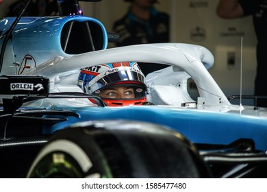 George Russell driving for Williams F1